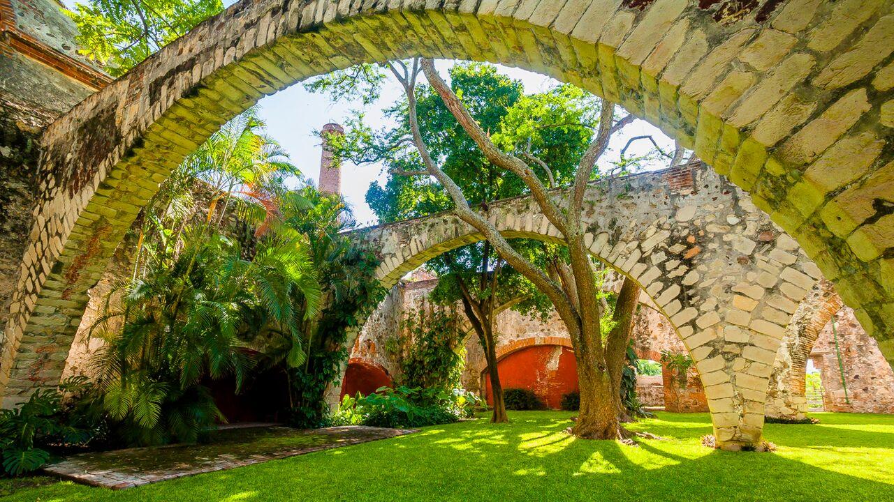 Interior de la Hacienda Tenango en Morelos